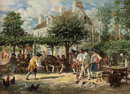 Le Dimanche à Poissy, les jouers de tonneau