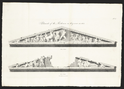 The Pediments of the Temple as they were in the Year 1683