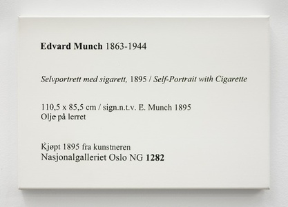 LCM, Edvard Munch, Selvportrett med Sigarett, 1895 / Self-Portrait with Cigarette