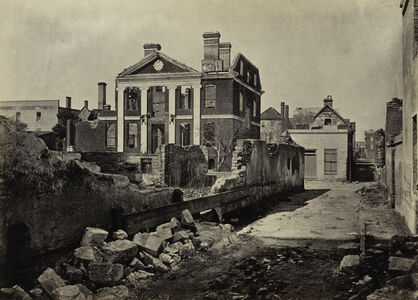 Ruins of the Pinckney Mansion, Charleston, South Carolina, from Photographic Views of Sherman's Campaign