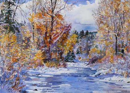 Warm Springs Creek, October Snow