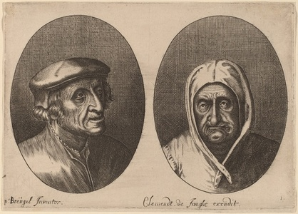 Heads of a Peasant Man and Woman