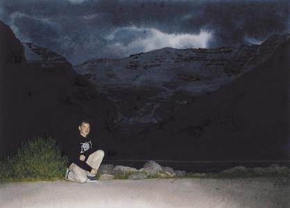 Black Self-Portrait: Lake Louise