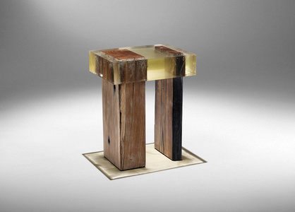 Wood Fossil Stool 01
