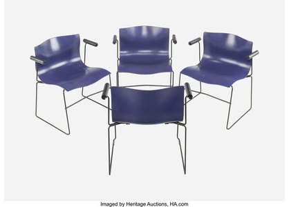 Four Purple Handkerchief Armchairs