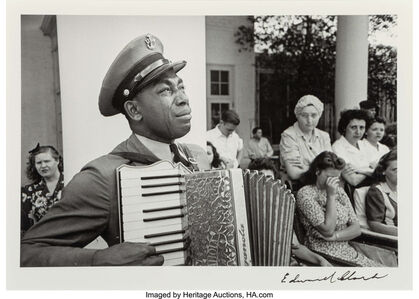 C.P.O. Graham Jackson, Warm Springs, Georgia, mourning the death of FDR, April 23
