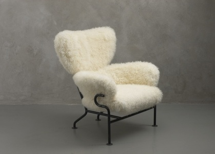Three PL19 armchairs