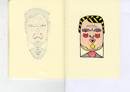 Performing White Skin. 23 Drawings.