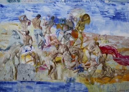 Copia Dal Perduto Cartone della Battaglia di Cascina de Michelangelo