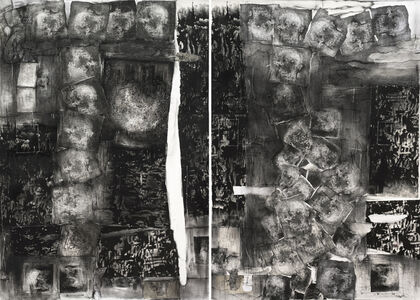 Untitled (Collage Diptych)