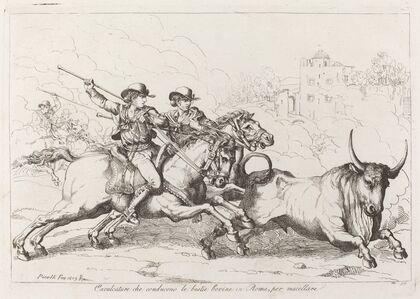 Cavalcature che conducono le bestie bovine in Roma, per macellare (Cattle Driven to the Slaughter in Rome)
