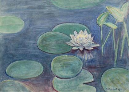 Untitled [Water Lilies and flower]