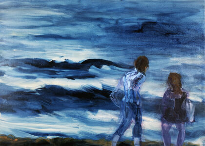 Paar am Meer (Couple by the Sea)