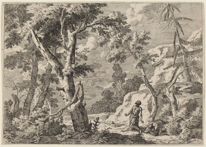 Wilderness Landscape with Two Hermits
