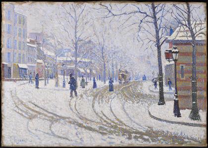 Snow: Boulevard de Clichy, Paris