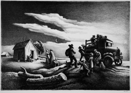 Departure of the Joads.  [The Grapes of Wrath Series.]