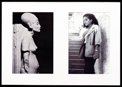 Miscegenated Family Album (Cross Generational), L: Nefertiti, the last image; R: Devonia's youngest daughter, Kimberley