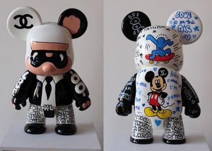 Qee Bear Karl - Haring Mickey