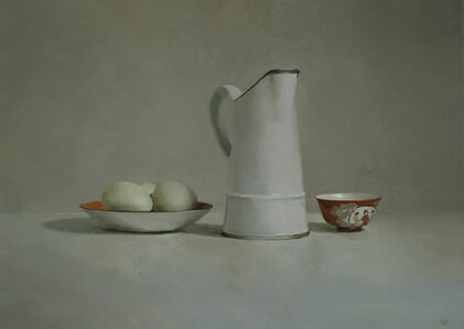 French Jug, Eggs, Chinese Bowl