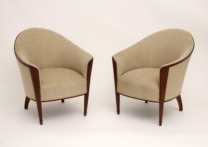 Rare Early Pair of Art Deco Fan Bergères