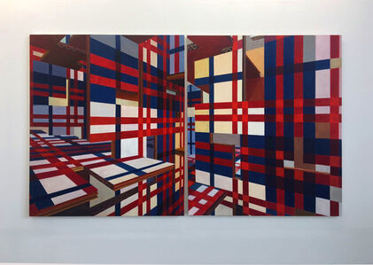 Piet Mondrian on 3d after the Maroons' textiles from Suriname