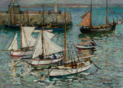 The Quay and Fishing Boats, Sunday Morning, St. Ives