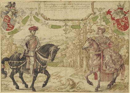 Johan IV van Nassau and His Wife Maria van Loon-Heinsberg