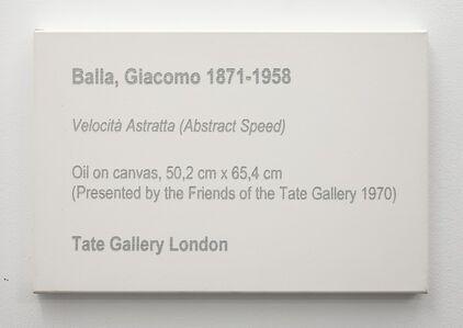 LCM, Balla, Giacomo, Velocitá astratta (Abstract Speed), 1913