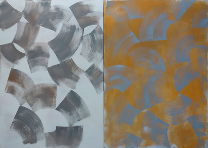 Diptych (Grey Orange)