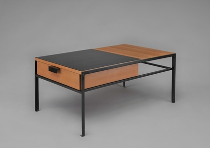 Pair of low tables with drawer