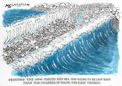 Crossing the now-parted Red Sea was going to be less easy than the children of Israel had first thought
