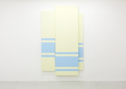 Triptych (Blue Lines on Yellow)