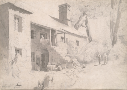 A Farm House with Figures