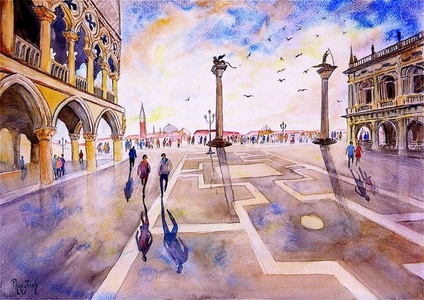 After the Rain, Piazza San Marco