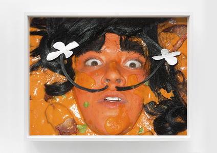 Self-portrait as Chicken Tikka Masalvador Dali by food'lebrities (Celebrities as Food Series)