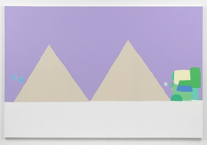 Landscape with two triangles