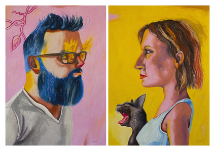 Amantes (Diptych)