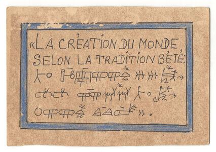 La création du monde selon la tradition Bété.
