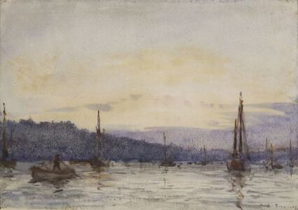 'FALMOUTH HARBOUR AT DUSK'