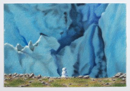 Snowman with Glacier