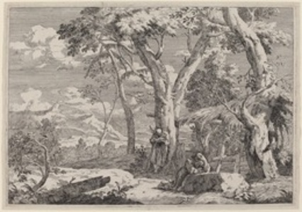 Wilderness Landscape with Two Monks