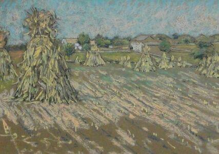 Haystacks in Pastel