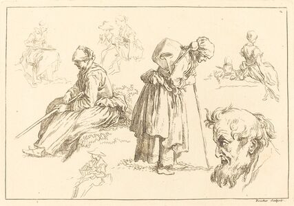 Figure Studies including Woman with a Kettle