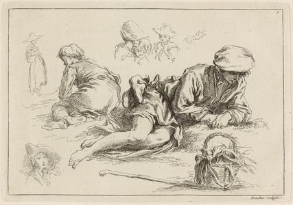 Figure Studies including Reclining Boy