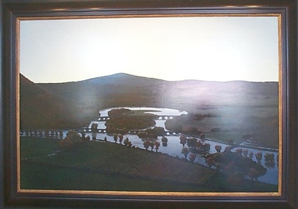 The Oxbow, After Church, After Cole, Flooded (Flooded River with Green Light for the Matriarchs E. & A. Mongan), 1999