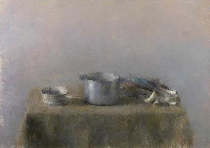 Les poireaux et les deux casserole