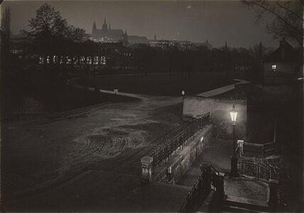 Prague pendant la nuit
