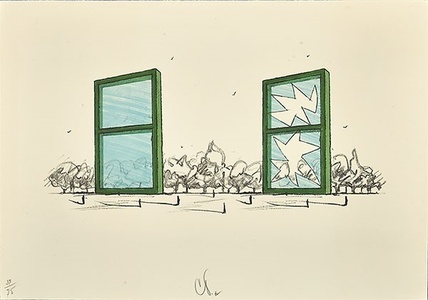 Proposal for Civil Monument in the Form of Two Windows