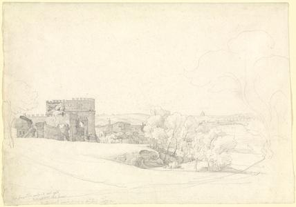 Via Appia Antica with the Tomb of Cecilia Metella