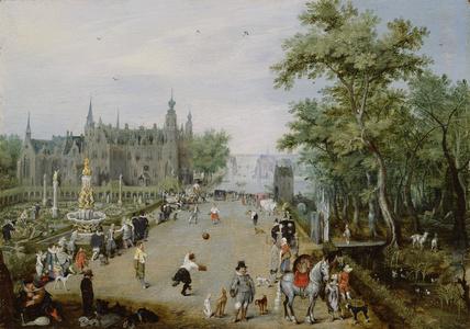 A Jeu de Paume Before a Country Palace